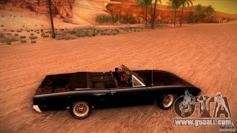 Plymouth Roadrunner Superbird Custom for GTA San Andreas upper view
