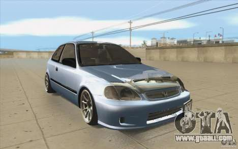 Honda Civic EK9 JDM v1.0 for GTA San Andreas back view