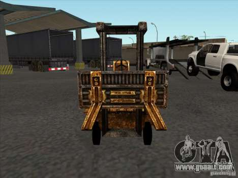 Forklift from the TimeShift for GTA San Andreas back view