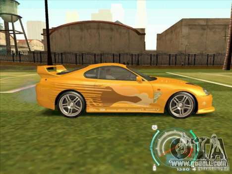 Toyota Supra from 2 Fast 2 Furious for GTA San Andreas side view