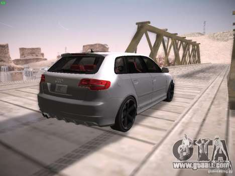 Audi RS3 2011 for GTA San Andreas back view
