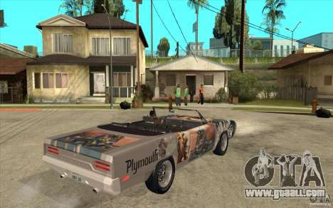 Plymouth Roadrunner Superbird Custom for GTA San Andreas right view
