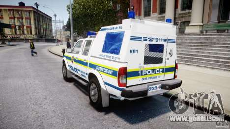 Nissan Frontier Essex Police Unit for GTA 4 back left view