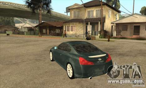 Infiniti G37 Coupe Sport for GTA San Andreas right view