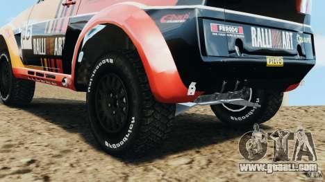 Mitsubishi Pajero Evolution MPR11 for GTA 4 inner view