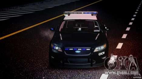Ford Taurus Police Interceptor 2011 [ELS] for GTA 4 upper view