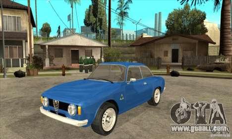 Alfa Romeo Giulia GTA for GTA San Andreas