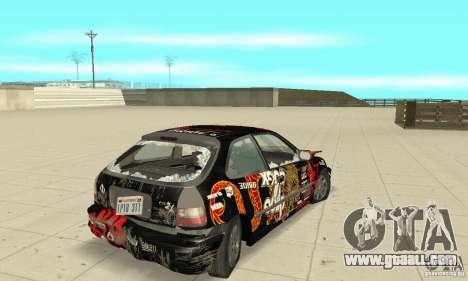 Honda-Superpromotion for GTA San Andreas upper view