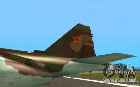 The Su-25 for GTA San Andreas inner view