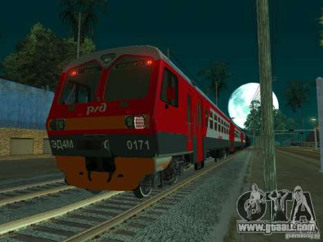 ÈD4M-0171 RUSSIAN RAILWAYS for GTA San Andreas right view
