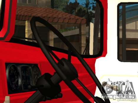 ZIL 131 fire for GTA San Andreas back left view