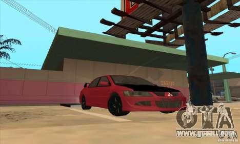 Mitsubishi Lancer Evolution IX Carbon V1.0 for GTA San Andreas back left view