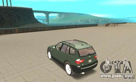 BMW X3 2.5i 2003 for GTA San Andreas back left view