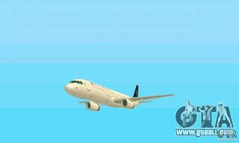 Airbus A321 Air Canada for GTA San Andreas side view