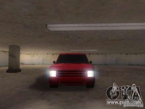 New Huntley for GTA San Andreas back view