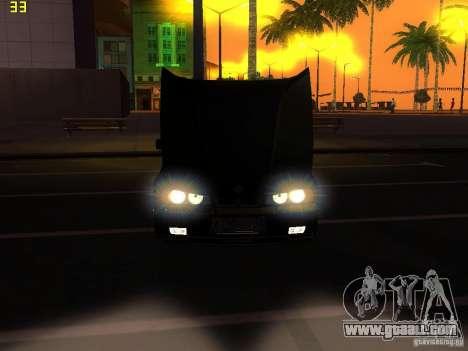 BMW E34 Alpina B10 Bi-Turbo for GTA San Andreas inner view