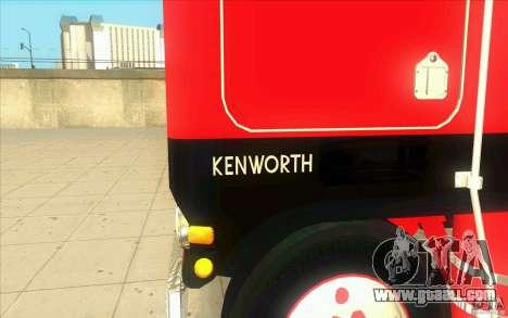 Kenworth K100 Extended Wheel Base for GTA San Andreas inner view