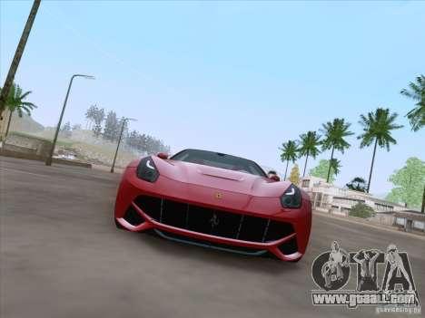 Ferrari F12 Berlinetta for GTA San Andreas back left view