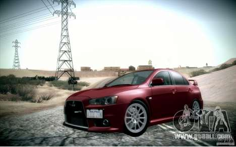 Mitsubishi Lancer Evolution X for GTA San Andreas