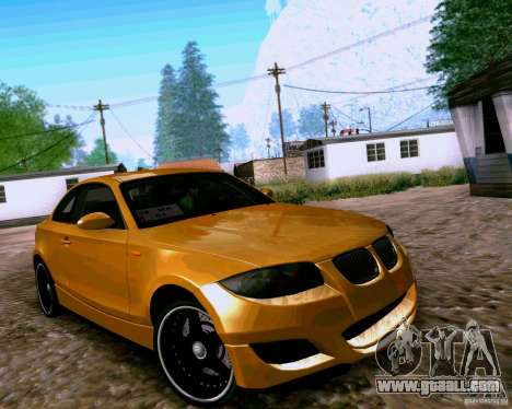 BMW 135 Tuning for GTA San Andreas left view