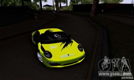 Porsche 911 Carrera S for GTA San Andreas inner view