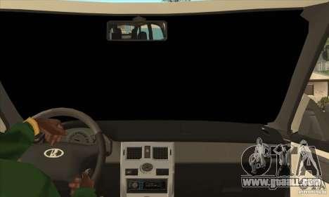 VAZ LADA Priora convertible for GTA San Andreas inner view