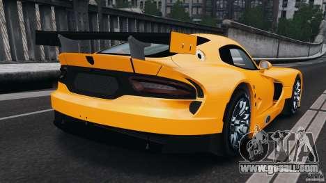 SRT Viper GTS-R 2012 v1.0 for GTA 4 back left view