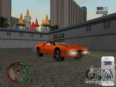 GTA IV HUD v1 by shama123 for GTA San Andreas seventh screenshot