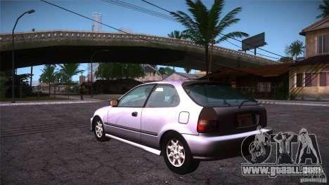 Honda Civic Tuneable for GTA San Andreas back left view