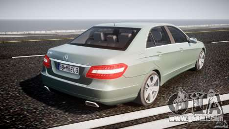 Mercedes-Benz E63 2010 AMG v.1.0 for GTA 4 upper view