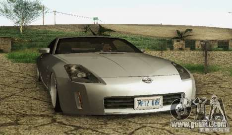 Nissan 350Z Stanceworks for GTA San Andreas back left view