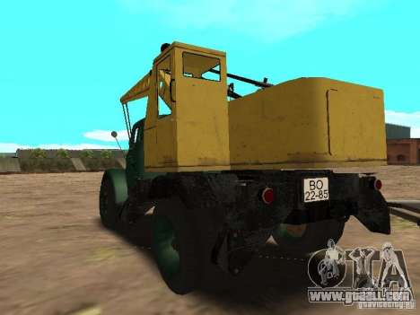 GAZ 51 mobile crane for GTA San Andreas back left view