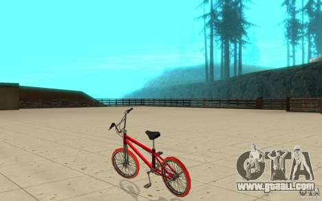 Zeros BMX RED tires for GTA San Andreas back left view
