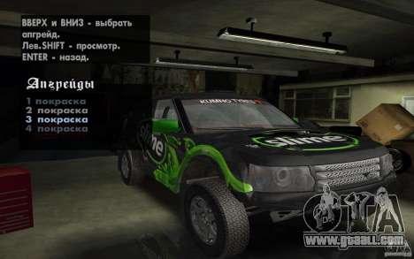 Bowler Nemesis for GTA San Andreas inner view