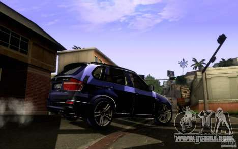 BMW X5M  2011 for GTA San Andreas right view