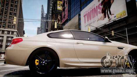 BMW M6 2013 for GTA 4 back view