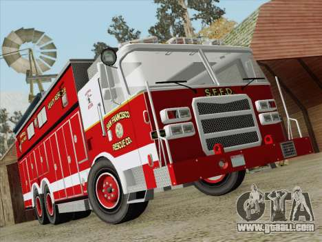 Pierce Walk-in SFFD Heavy Rescue for GTA San Andreas bottom view