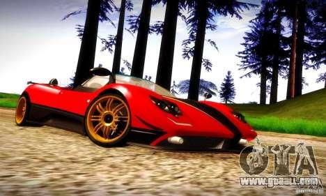 Pagani Zonda Tricolore V2 for GTA San Andreas inner view