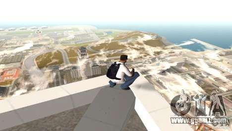 Parašut blue for GTA San Andreas second screenshot