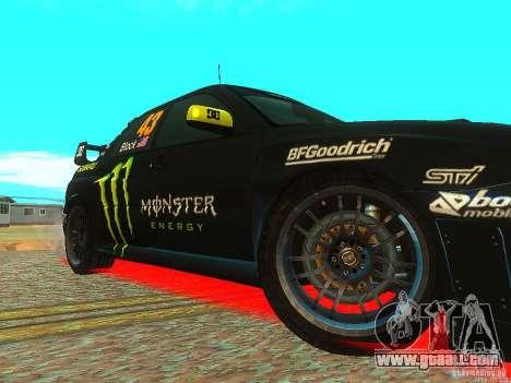 Subaru Impreza Gymkhana Practice for GTA San Andreas inner view
