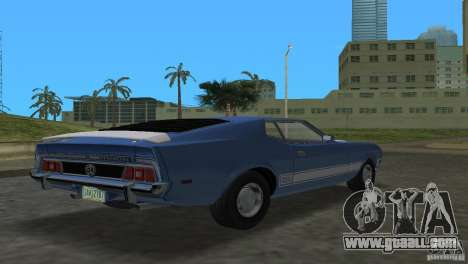 Ford Mustang 1973 for GTA Vice City left view