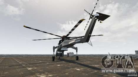 SkyLift Helicopter for GTA 4 back left view
