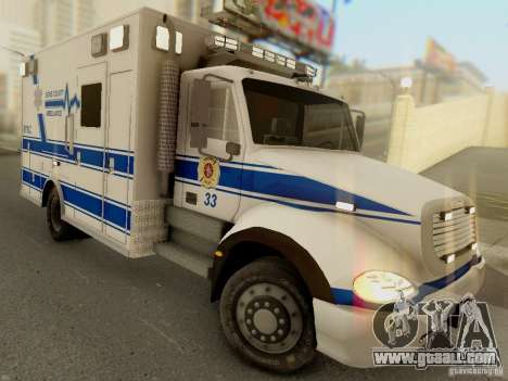 Freightliner Bone County Police Fire Medical for GTA San Andreas back view