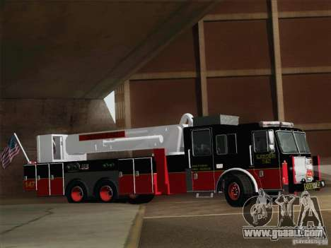 Seagrave Marauder II. SFFD Ladder 147 for GTA San Andreas side view
