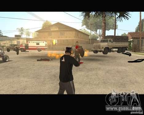 Sangue na tela v2 for GTA San Andreas forth screenshot