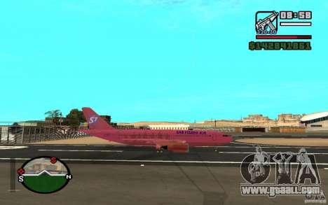 Airbus A-310 S7 SanFierroAir for GTA San Andreas right view