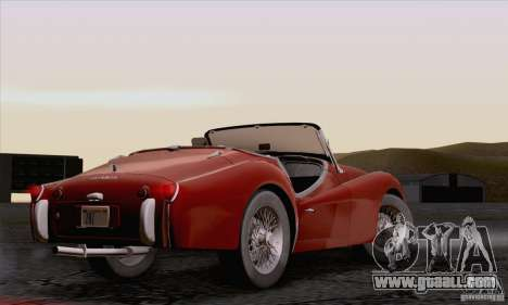 Triumph TR3B 1962 for GTA San Andreas inner view