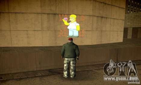 Simpson Graffiti Pack v2 for GTA San Andreas sixth screenshot
