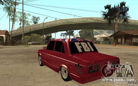 VAZ 2107 Hobo v. 2 for GTA San Andreas back left view