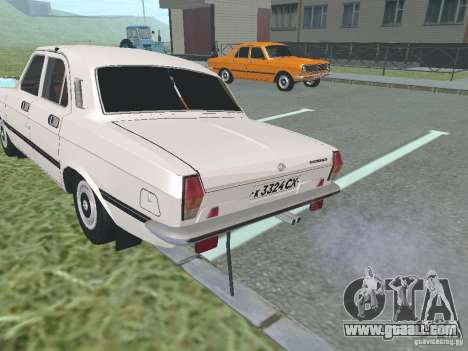 GAZ 24-10 Volga for GTA San Andreas back view